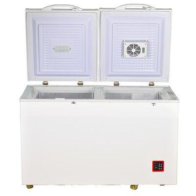 7.5 cu ft DC Solar Energy Chest Fridge Freezer Compressor Cooler Double Door