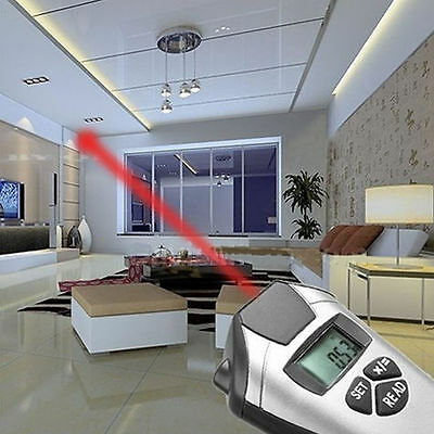 Electronic Tape Measure Ultrasonic Distance Meter Measurement Laser Pointer