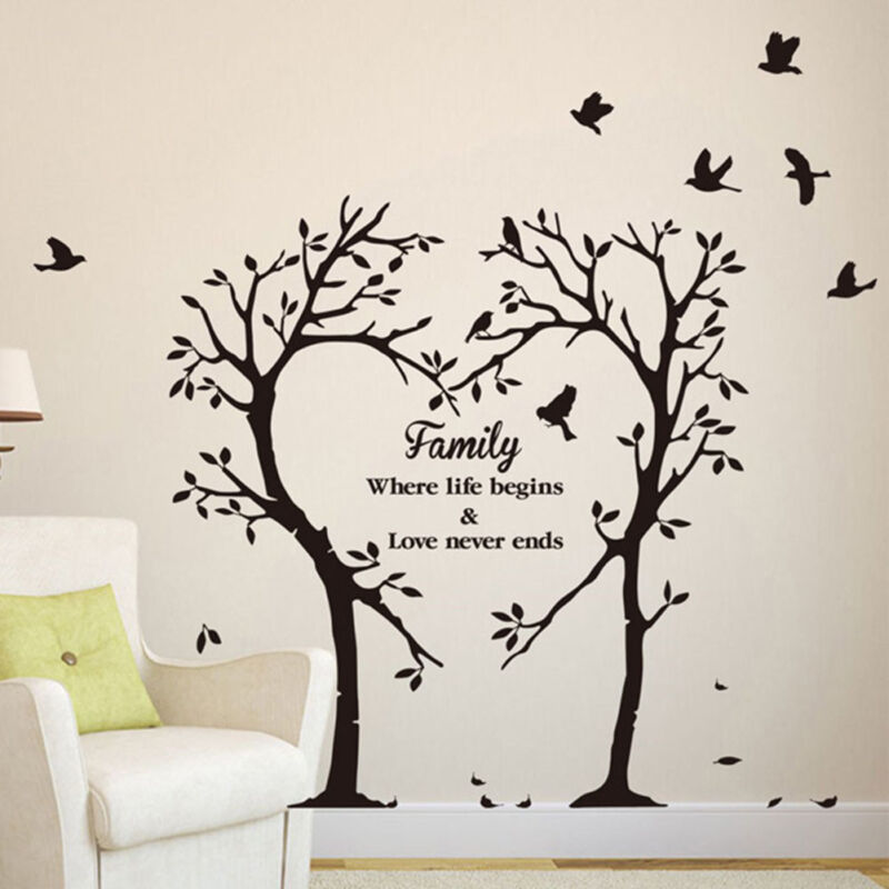 Home Decoration - Family Love Tree Quotes Wall Sticker Art Living Room Removable Decals Home Decor