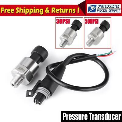 30psi Pressure Transducer Sender 18 Npt For Oil Fuel Air Water Stainless Steel