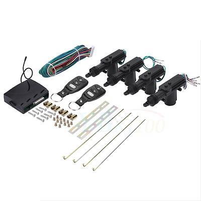 Universal Car 4 Door Power Lock Kit Keyless Entry System Security Remote Central