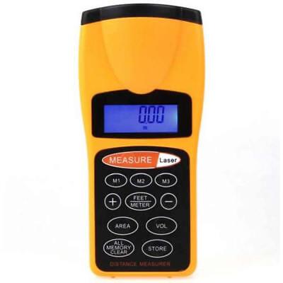 Lcd Ultrasonic Laser Meter Pointer Distance Measurer Range 60ft 18m