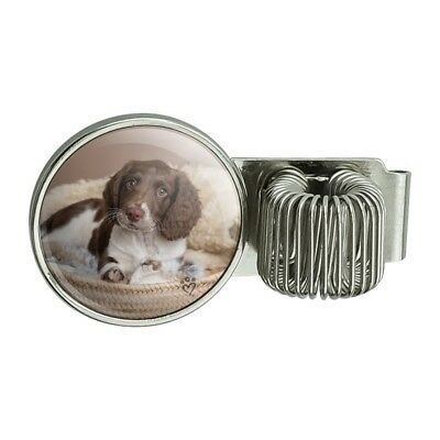 Springer Spaniel Puppy Dog Basket Bed Planner Journal Book Pen Holder Clip