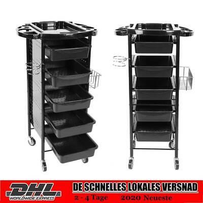 Arbeitswagen Friseurwagen Stapelboy Salonhilfe Beistellwagen mit 5 Schubladen DE