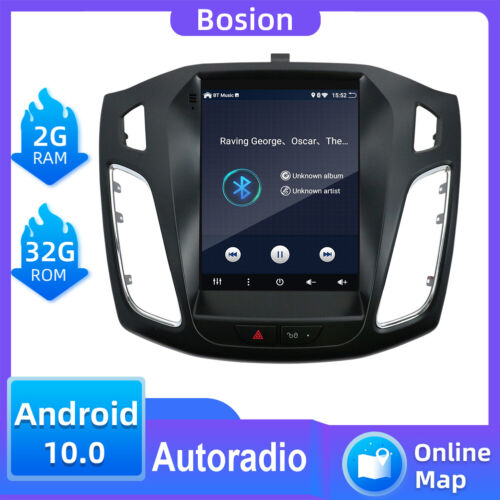 9.7inch Vertical Screen Android 10 Car Stereo Radio GPS For Ford Focus 2012-2017