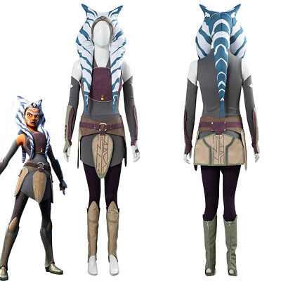 Star Wars Rebellen Ahsoka Tano Halloween Outfit Karneval - Ahsoka Tano Halloween Kostüm