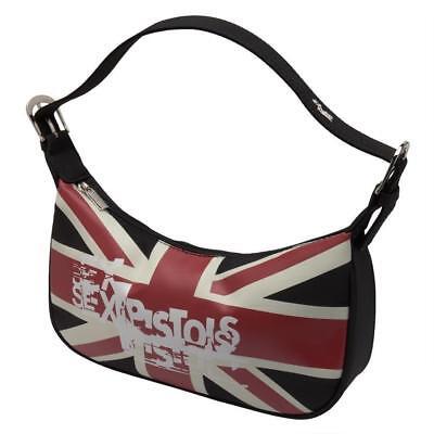 Sex Pistols black vinyl bag Sid Vicious Rotten tote purse new tag nwt UK flag