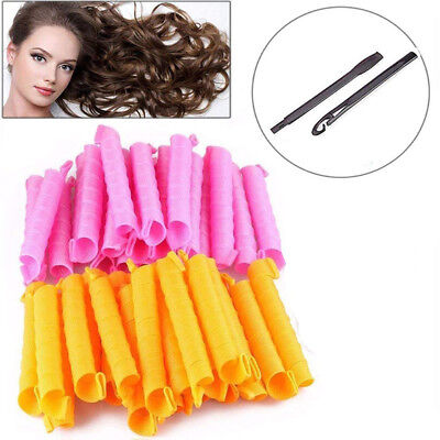 40pc 50CM DIY Hair Curlers No Heat With 1 Set of Styling Hook Magic Rollers
