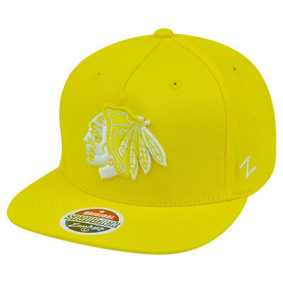 Zephyr Nhl Hut (NHL Zephyr Chicago Blackhawks Popsicle Neongelb Snapback Hut Kappe)