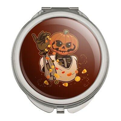 Halloween Jack Makeup (Jack O Lantern Halloween Candy Salt Bae Compact Purse Handbag Makeup)