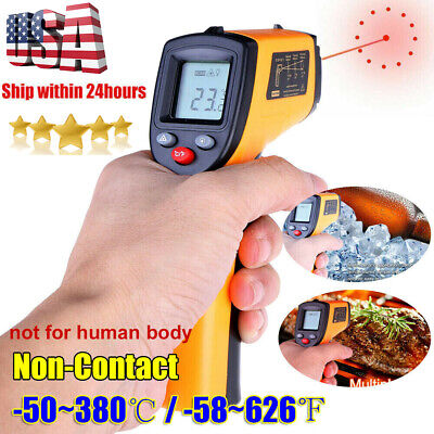 No-touch Lcd Ir Laser Industrial Infrared Temperature Digital Thermometer Gun Us