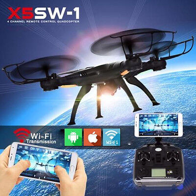 X5SW-1 HD Camera Quadcopter RC Drone WiFi FPV Finish Helicopter Hover Xmas Gift US