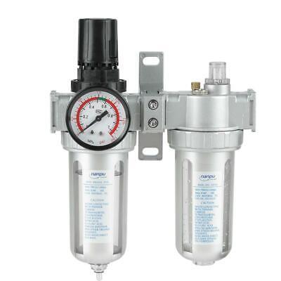 G12 Air Compressor Filter Oil Water Separator Trap Tools W Regulator Gauge