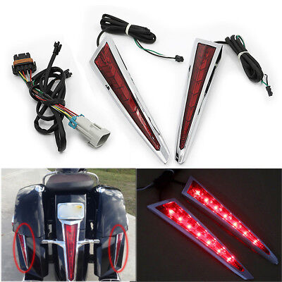 US 2X Saber Tooth Rear Saddlebag Side LED Lights For Victory Cross Country Roads