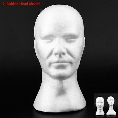 Male Female Styrofoam Mannequin Foam Head Model Stand For Wig Hat Display GA