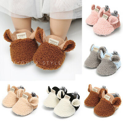 Winter Toddler Baby Boy Girl Warm Snow Boots Infant Soft Sole Slipper Crib (Baby Shoes Boots)