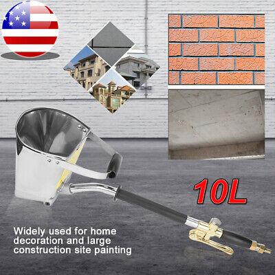 4 Jet Stucco Sprayer Plaster Sprayer Cement Mortar Spray Gun Hopper Wall Paint