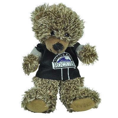 (MLB Colorado Rockies Black Hoodie Stuffed Plush Mini Teddy Bear 9
