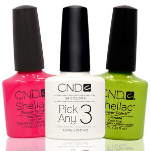 CHOOSE-3-Nail-Polish-CND-Shellac-UV-Gel-0-25-Ounces-Manicure-Soak-Off-Color-Coat