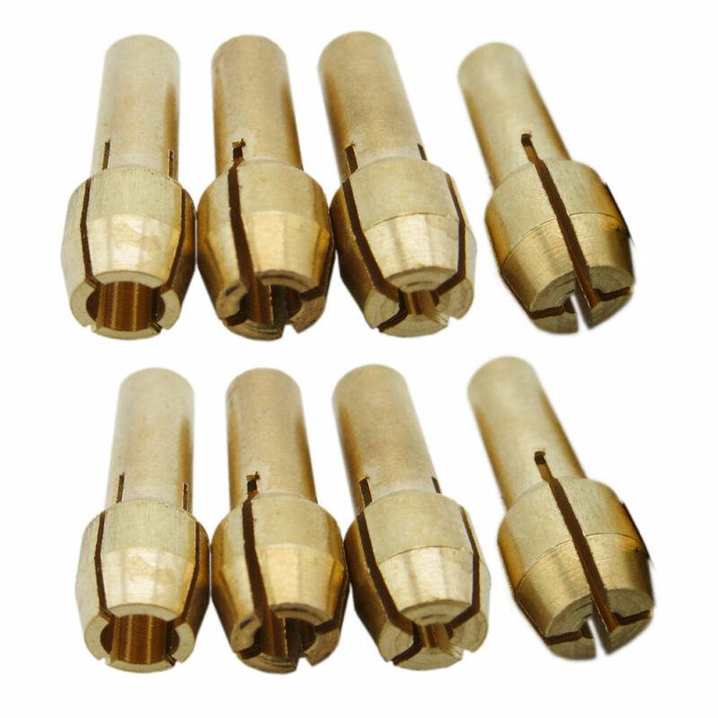 8pcs Drill Chucks Collet Bits Brass Fit Rotary Tools 1mm/1.6mm/2.3mm/3.2mm #d