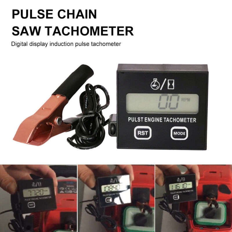 Motorcycle Chainsaw Gasoline Engine Digital Inductive Pulse Speed Tachometer C#