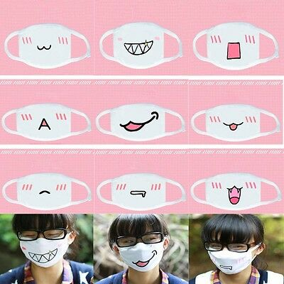 Kawaii Kaomoji Baumwolle Staubdicht Mundschutz Mundmaske Anti-Staub (Mund Maske)