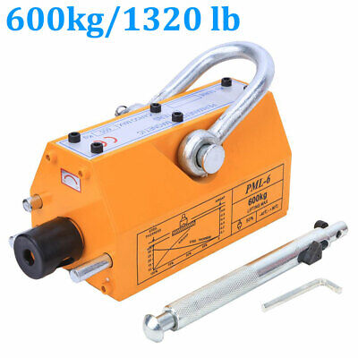 600kg Steel Lifting Magnet Heavy Duty 1320lb Magnetic Lifter Hoist Crane New