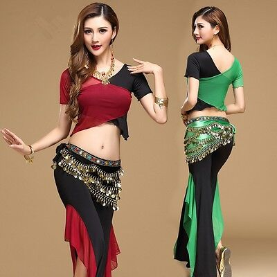 Siamese blouse with Pants 3 pcs set Belly Dance Yoga practice clothing Costume](Siamese Costume)