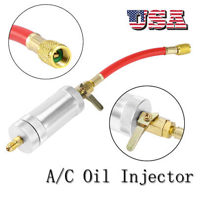 R134A Car Auto A/C AC Oil & Dye Injector R134 2 oz InjectionTube Filler Tool