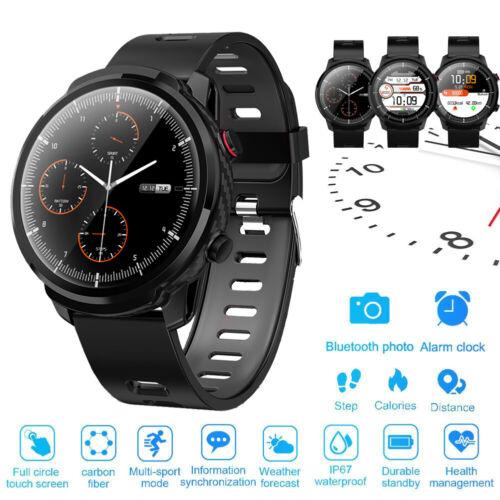 Smartwatch wasserdicht IP67 Fitnesstracker Smart Armband mit Pulsmesser Stoppuhr