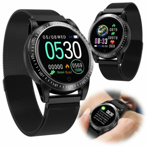 2019 Version Smart Watch Heart Rate Sleep Monitor for Samsung Apple iPhone LG Cell Phones & Accessories