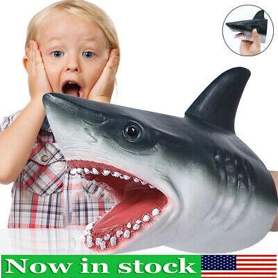 Shark Cartoon Hand Puppet Animal Doll Kids Glove Soft Plush Toys Story Telling