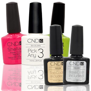 CHOOSE-3-PLUS-TOP-BASE-COAT-Nail-Polish-CND-Shellac-UV-0-25-Soak-Off-Colors