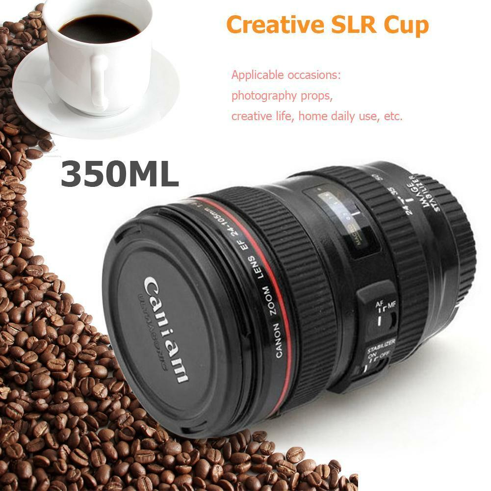 Creative Cups SLR Camera Lens Shaped Mugs 350lm Stainless St