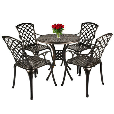 Outdoor Furniture Dining Set All-Weather Cast Aluminum Bistro Table and Chairs  Aluminum Bistro Chairs