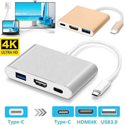 Type C USB 3.1 to USB-C 4K HDMI USB 3.0 Multi Port Adapter Hubs For Macbook Pro