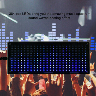 Diy Kits 384 Pcs Led Light Music Audio Spectrum Analyzer Display Volume Stereo