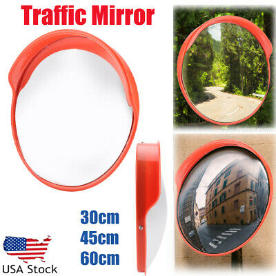 121824 2 Type Outdoor Traffic Security Convex Pc Mirror Driveway Blind Spot
