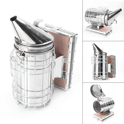 Bee Hive Smoker Stainless Steel Wheat Shield Calming Spray Beekeeping Equipment