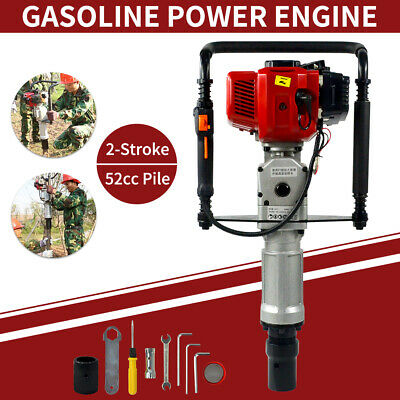 New 52cc 2 Stroke Gas Powered Engine Pile Driver Engine High Quality Us Stock
