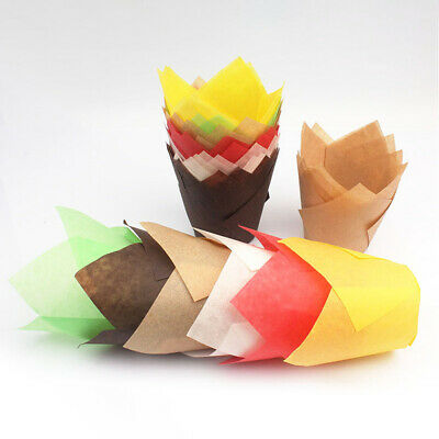 Muffin Wrappers - 50Pcs Cupcake Wrapper Liners Muffin Tulip Case Cake Paper Baking Cup Welcome