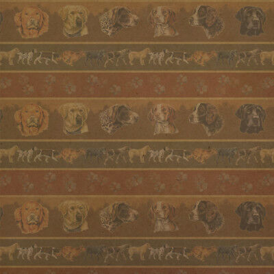 Hunting Dog Breeds Paw Prints Premium Kraft Roll Gift Wrap Wrapping Paper