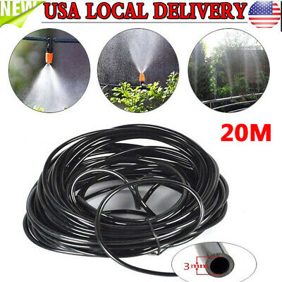 20M Watering Tubing Hose Pipe 3/5mm Micro Drip Garden Irrigation System Drip Watering Tubing
