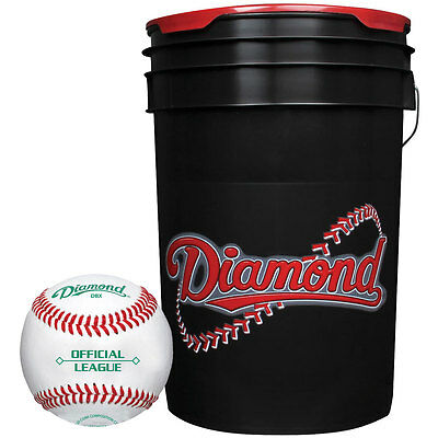 Diamond Dbx Official League Duracover Baseballs & Bucket 30 Ball Pack W/Bucket