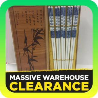 Ceramic Chopsticks in Wooden Storage Box Tullamarine Hume Area Preview