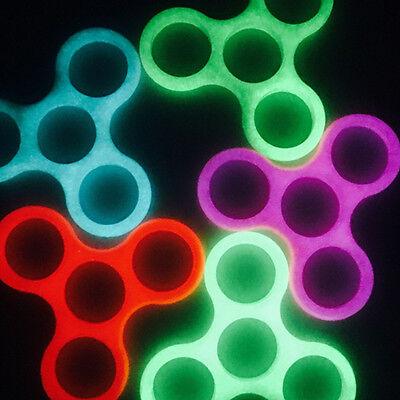 Plastic Luminous Glow Tri Frame Caps Shell for Fidget Hand Finger Spinners