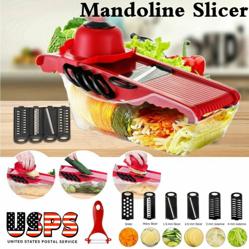 Manual Vegetable Slicer Potato Fruit Cutter Stainless Steel