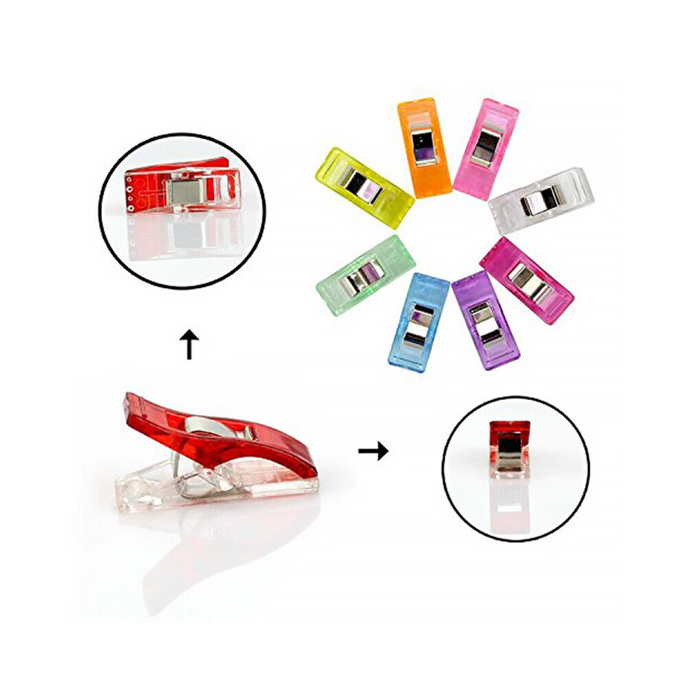 102 pcs Colorful Sewing Clip For Quilt Binding Paper Blinder And Clothes