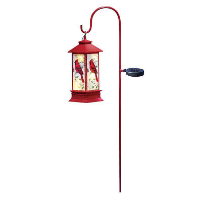 Cardinal Christmas Hanging Solar Lantern with Red Shepherds