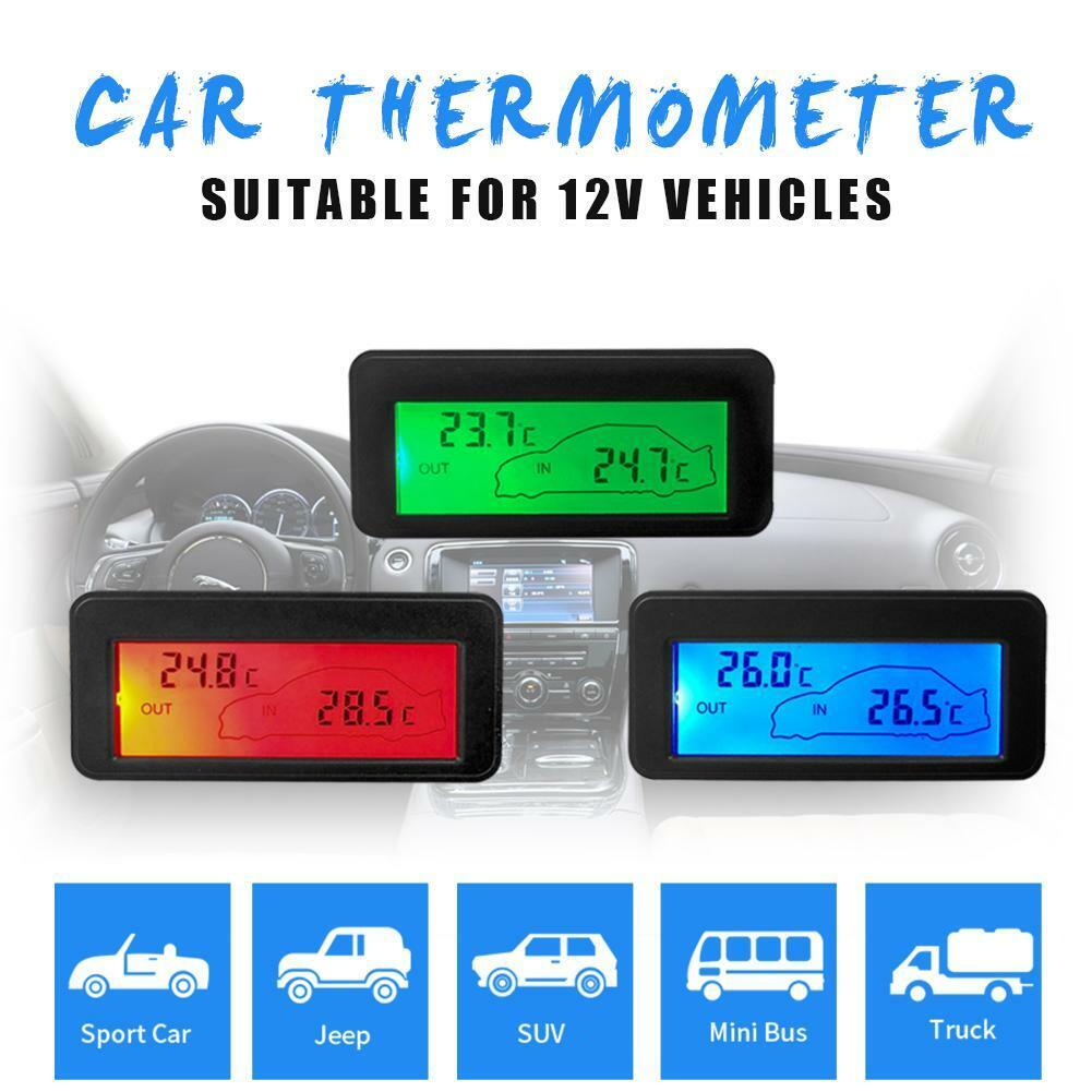 12V Digital Backlight LCD Auto Car Vehicle Temperature Therm
